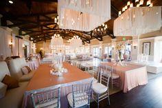 Silver, pink and white wedding reception | Photo: Scarlett & Stephen