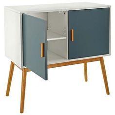No.3 Retro Design Kommode Sideboard Schrank Anrichte Holz mit zwei Flügeltüren