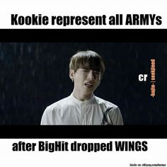 """I actually kept saying """"Well I give up, F***"""" #BTS #WINGS"""