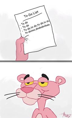 To Do List Pink Panther