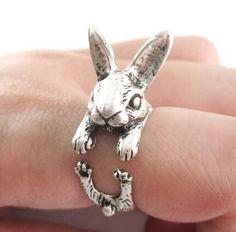 Daisies 10pcs/lot  Fashion Ring Bunny Rabbit Shaped Animal  Around Ring For Women Girl Gift