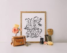 Be Kind quote Printable Wisdom hand lettering by PrintableWisdom