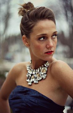 what necklace should you wear with a strapless dress - Google Search