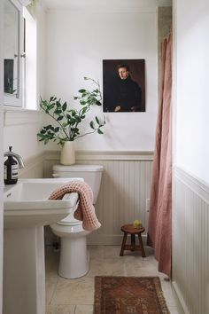 Painting Beadboard Is a Breeze With These 7 Easy Steps - SemiStories Home Interior, Bathroom Interior, Interior Design, Bathroom Renos, Small Bathroom, Washroom, Bathroom Beadboard, Beadboard Wainscoting, Wc Decoration