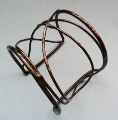 Copper Wire Bracelet Hammered Copper Wire by MadiJAXmetals on Etsy