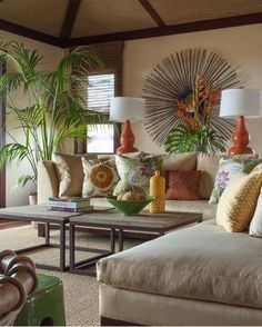 Tropical-Themed-Living-Room-Ideas-with-Palm-Potted-Plants-and-Comfortable-Sofa-Set.jpg (821×1024)