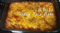 Super delicious 21 day fix turkey taco bake recipe! Seriously, it is AMAZING! So invite me to dinner when you make it! :)