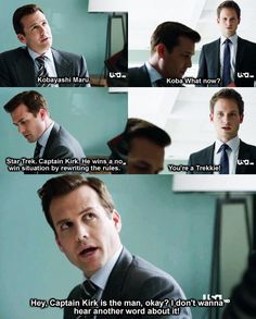 Yes, Kirk is the man!!! ❤ #Startrek #Suits