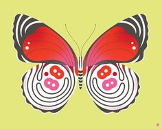 Eight Eight Butterfly by Bee Things Painting Print on Wrapped Canvas