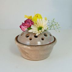 Vase with frog lid.  Perfect for the weeds and flowers the kiddos pick