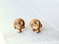 C3PO Droid Star Wars Earrings by CouldBeeYours on Etsy, $16.50