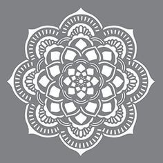 Mandala designs measures x DecoArt Stencils have pre-cut designs on flexible plastic that simply need to be painted onto any project. Base coat the project, position the stencil and apply paint. These durable stencils can be used over and over. Stencil Templates, Stencil Patterns, Stencil Painting, Stencil Designs, Wall Patterns, Mandala Design, Mandala Art, Arte Mehndi, Machine Silhouette Portrait