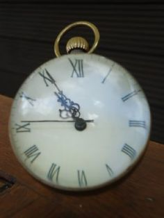 """Every Second Together is Precious"":  Benjamin - Vintage Brass & Glass Bauble/Ball Desk Clock"