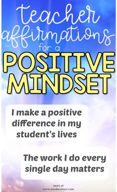 20 Teacher Affirmations to Keep a Positive Mindset - Mrs. Teaching Humor, Teaching Quotes, Teaching Tips, Affirmations For Anxiety, Positive Affirmations, Preschool Rules, Mindfulness For Beginners, Morals Quotes, Teacher Morale
