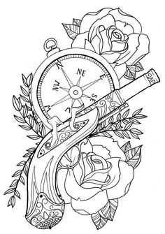 tattoo stencil old school - Google Search