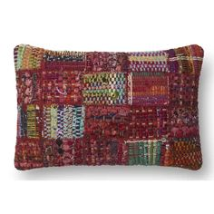 A brilliant multicolor mix makes the Loloi Rugs Decorative Rectangular Pillow 's patchwork cover stand out. The blend of wool, viscose,. Shabby Chic Throw Pillows, Red Decorative Pillows, Pillow Arrangement, Patchwork Designs, Best Pillow, Wool Pillows, Cushions, Cushion Pads, Beige Area Rugs