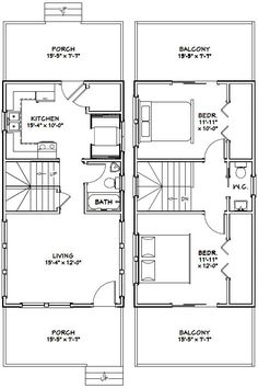 16x28 tiny house -- #16x28h1e -- 447 sq ft - excellent floor plans