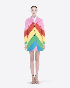 Valentino Online Boutique - Valentino Women Double Cloth Intarsia Coat