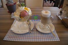 Dessert auf dem Säntis im Panoramarestaurant