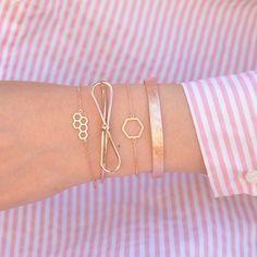 Majolie - Bracelet Hexagone Or Rose – Majolie - Des bijoux prêts à offrir!