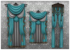 (Almost) 2500 Followers Gift!Sims 4 Vampire Curtains in @pickypikachu beautiful color palette • colors in 2 variations • 27 solids • 27 (maxis) patterns • Requires Vampire Stuff Pack • I made some...