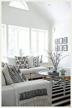 beautiful clean black and white apartment via an indian summer blog #interior