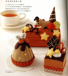 Japanese felt food - Christmas Desserts