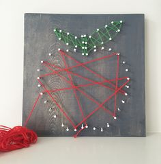 sarah m style: let's get crafty: DIY apple string art + free printable template and gift tag bookmark.