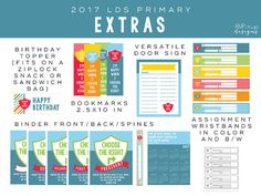 All the extras for the 2017 primary theme - Choose the Right - - - A L S O A V…