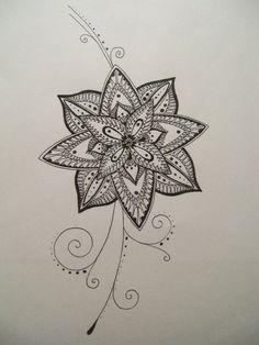 Flower doodle by crazyeyedbuffalo
