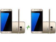 Smartphone Samsung Galaxy S7 Edge 32GB Dourado 4G - Câm. 12MP + Smartphone Samsung Galaxy S7 Edge 32GB com as melhores…