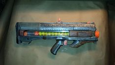 Handpainted nerf gun semiauto battery powered Zeus Rival sanded, primered, battle damage, painted & 3 layers of clear coat.