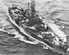 USS Indiana (BB-58), a South Dakota-class battleship of the U.S.Navy during WWII. Indiana saw extensive service one being, she supported the carrier task force that raided Marcus Island on 31 August – 1 September. She took part in the invasion of Tarawa on 20–23 November and provided gunfire support to the Marines that stormed the island.