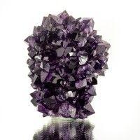 "2.6"" Rare Deep Purple AMETHYST STALACTITE Crystals w/Drip Hole Uruguay for sale"