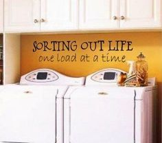 This is a great idea if you have a small space to use.. the colour brightens it and the quote makes the work seem a bit less..