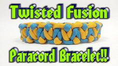 Paracord How To Make A Twisted Fusion Bar Bracelet