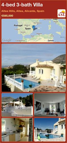 4-bed 3-bath Villa in Altea Hills, Altea, Alicante, Spain ►€585,000 #PropertyForSaleInSpain