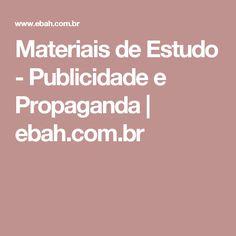 Materiais de Estudo - Publicidade e Propaganda | ebah.com.br