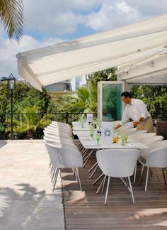 Hôtel Domaine Cocagne - France, luxury #outdoor #furniture. Great #luxuriousfurniture in beautiful setting to enjoy the sun of France.