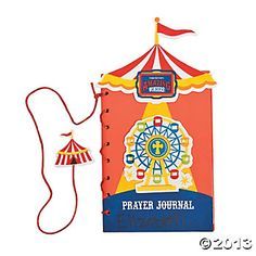 """""""Over The Top"""" Prayer Journal Craft Kit VBS preview 2013...VBS crafts are great fun at home too."""