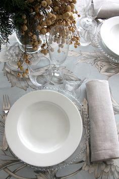Francia Azul - Urrea Mantelerias Table Settings, Table Decorations, Furniture, Home Decor, Wedding Decoration, France, Blue Nails, Decoration Home, Room Decor
