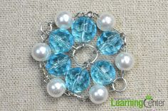 Vintage Jewelry Design- How to Make Ocean Blue Beaded Flower Necklace - Pandahall.com