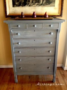 gray furniture paintParis Gray chalk paint  DIY furniture  Pinterest  Gray Chalk