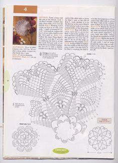 Round Hearts Crochet Doily Pattern 1