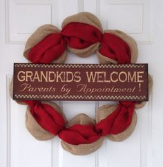 Everyday Wreath with sign by SimpleCountryBurlap on Etsy, $45.00