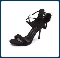 Sommer feminine High Heels gebunden mit Sandalen süße Vintage Damen Schuhe ( Farbe : Schwarz , größe : 36 ) - Sandalen für frauen (*Partner-Link)