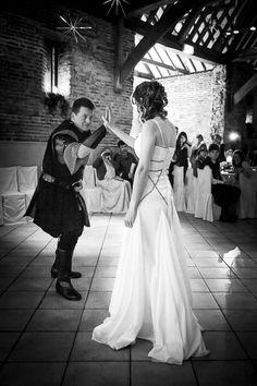 Elms Barn wedding a medieval first dance Renaissance Wedding, First Dance, Norfolk, Barn, White Dress, Wedding Photography, Collection, Fashion, Moda