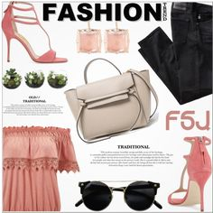 A fashion look from July 2016 by jiabao-krohn featuring Miss Selfridge, AG Adriano Goldschmied, Larkspur & Hawk and fsjshoes