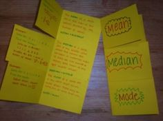 math foldables by Timtam