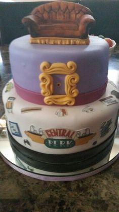 friends tv show birthday cake Friends Birthday Cake, 25th Birthday Parties, Friends Cake, Cool Birthday Cakes, Fondant Figures, Cake Tv Show, Fashion Cakes, Cake Images, Friends Tv Show